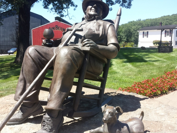 Statue of Jim Beam Master Distiller Booker Noe